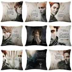 Game of Thrones Characters Pillow Case Cushion Cover