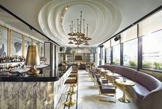 Part of the new MahaNakhon development in the Thai capital, the Vogue Lounge restaurant and bar was created in collaboration with Condé Nast. Timeless black-and-white glamour, inspired by the Vogue photography archive, makes this the perfect place to strike a pose.