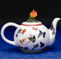 The Twiggery - Tea Party - hummingbird teapot, teapot with hummingbirds