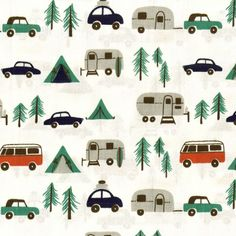 I badly want to take this fabric and make it into the coolest chicest camping table cloth! Who says you can't camp in style?!?