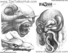 Paul Booth Flash | ... Tattoo`s by Artist » Paul Booth » paul-booth-tattoo-flash-0010.jpg