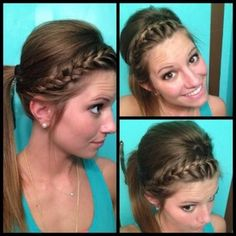 Braided hair ponytail-wish I could do my hair like this