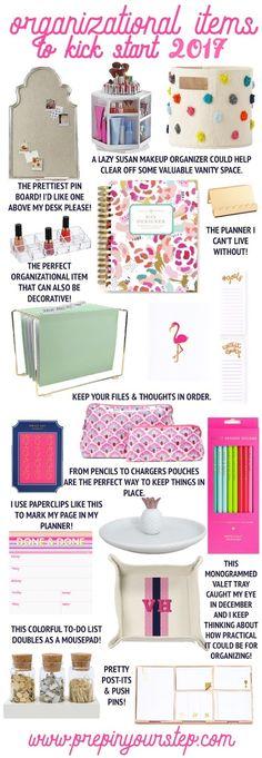 preppy organizational items for 2017