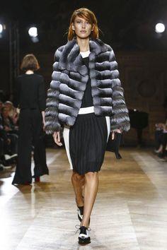 YDE - Gorgeous fur (looks like chinchilla) jacket. #fw15 #pfw