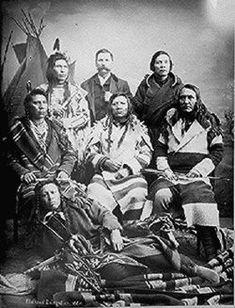 Flathead delegation in Washington, D.C. with interpreter, 1884