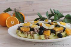 Cocina compartida: Ensalada de patatas con atún y naranjas
