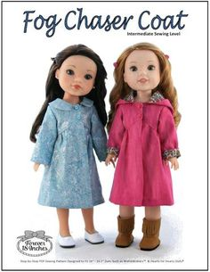 The Forever 18 Inches Fog Chaser Coat Inch Doll clothes pattern. Warm your Wellie up with this trendy coat that is full of options to customize the perfect coat.