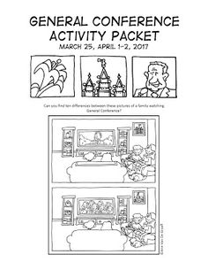 Mormon Cartoonist: Your April 2017 General Conference Activity Packet