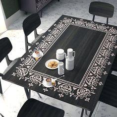 Plantilla de Stencil - plantilla única para la decoración de muebles - frontera para pared - muebles renovación plantilla