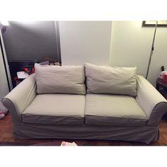 Pottery Barn Comfort Sofa in Grade A Twill/Stone-0