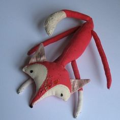 "Plush Fox on sale at Etsy . *Previously: Watch Fox News reporter Jane Skinner repeatedly say ""top cock"" instead of ""top cop"" . Sewing Projects For Kids, Crafts For Kids, Fox Crafts, Fox Decor, Fox Toys, Paper Crafts Origami, Fox Pattern, Sewing Toys, Soft Dolls"