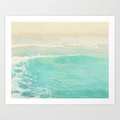 beach ocean wave. Surge. Hermosa Beach photograph Art Print by Myan Soffia - $25.00
