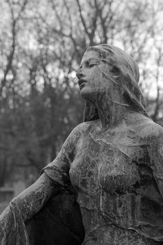 Statue of veiled woman (probably funerary sculpture) - bluesonplantmars) Cemetery Angels, Cemetery Statues, Cemetery Art, Gothic Aesthetic, Slytherin Aesthetic, Aesthetic Art, Statue Ange, Photocollage, Wow Art