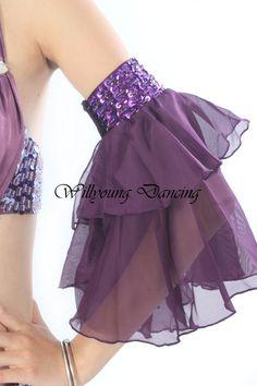 handmade belly dance arm sleeves