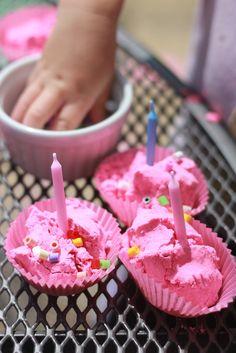 The Imagination Tree: Pinkalicious: Pink Cloud Dough Cup Cakes!