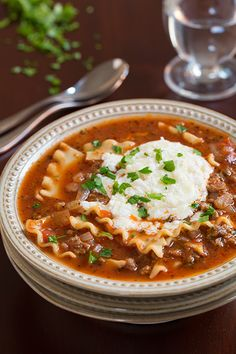 Lasagna Soup - I like this just as much if not more than lasagna! Pure comfort food and so so good!