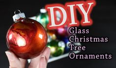 DIY Christmas Ornaments are easy with this technique of using glass bulbs, compressed air and colored dye. I hope you enjoy this DIY tutorial. Glass Christmas Tree Ornaments, Painted Ornaments, Christmas Bulbs, Christmas Crafts, Christmas Decorations, Alcohol Ink Glass, Alcohol Inks, 3d Art Projects, Diy Crafts