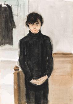 Self-Portrait ,ca. 1926 by Jeanne Mammen, (1890-1976) German artist .Movement:  Neuen Sachlichkeit-Symbolism-Expressionism
