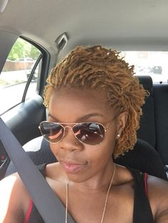 Last round going blonde with my sisterlocks loving the results. 10 months sisterlock