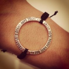 Inspirational circle macrame bracelet by AroundMyWrist on Etsy, 11.95