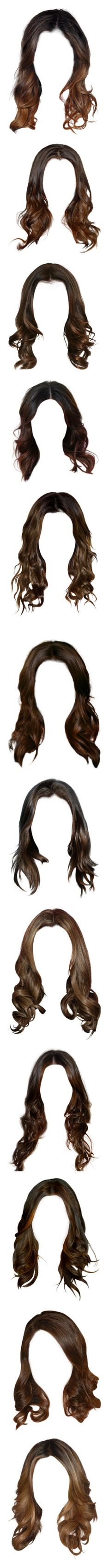 """""""Hayley Marshall Hairstyles"""" by demiwitch-of-mischief ❤ liked on Polyvore featuring hair, doll hair, hairstyles, doll parts, dolls, beauty products, haircare, hair styling tools, wigs and brunette"""