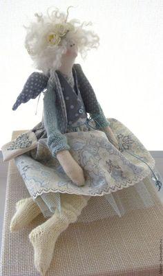 Куклы Тильды ручной работы. Ярмарка Мастеров - ручная работа. Купить Летний ангелочек. Handmade. Лимонный, кукла ручной работы