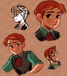 nyoncat: Young Hans doodles / see captions for senseless headcanons  I dunno why I like Hans so much, probably because we never got a good glimpse of his childhood? (the bruises and wounds would be from fencing/sword lessons with his brothers.)