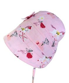 Look at this #zulilyfind! Pink & Red Pony Bow Bonnet - Infant #zulilyfinds