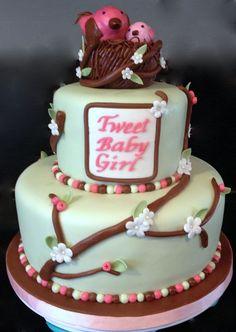 - Tweet Baby girl cake.