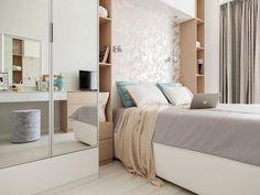 Небольшая спальня 12 метров в современном стиле: фото