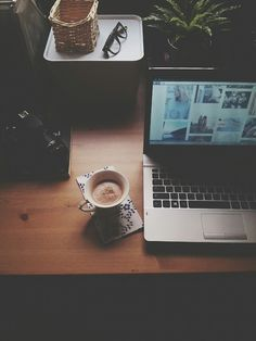 """Sometimes after a rough day you just need to wind down with some coffee or tea, a book or pinterest."""
