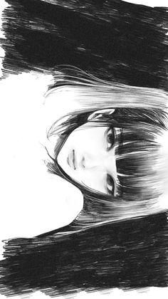 Anime Art Girl, Manga Art, Pretty Art, Cute Art, Aesthetic Art, Aesthetic Anime, Art Sketches, Art Drawings, Anime Monochrome