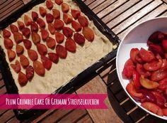 Plum crumble cake german streuselkuchen streuselkuchen mit pflaumen Plum Crumble, Quick Cake, Kid Friendly Meals, Waffles, Biscuits, Baking, Breakfast, Easy, Recipes