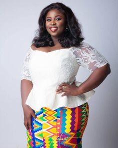 Do you know you can look prettier on corporate Kente attire? Lace Dress Styles, African Lace Dresses, Latest African Fashion Dresses, African Print Fashion, African Skirt, Trendy Ankara Styles, Kente Styles, African Wear, African Style