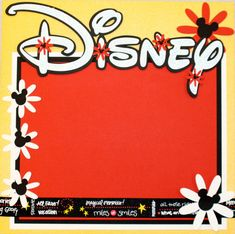 Disney Front and Back of Album 12x12 Premade Scrapbook Layout
