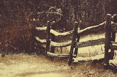 I just love how these old wooden fences look. . . so enchanting. :)