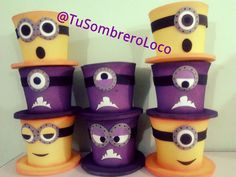 gorros cotillon fiesta minions - Buscar con Google Boys Easter Hat, Foam Crafts, Arts And Crafts, Candy Bar Party, Fiesta Decorations, Crazy Hats, Minion Party, Ideas Para Fiestas, New Years Eve Party