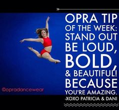 "#opra #tipoftheweek!  More examples of what Dani Brand does for her ""brand me"" clients!  #dance #brand #bold #beautiful #leap #fashion #fitness"