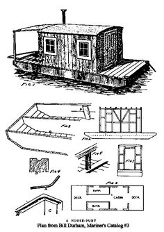 Well, In the dictionary shanty means a small crudely built dwelling, so a shantyboat would therefore mean a crudely built boat, and that is a part of it, up to a point. Pontoon Houseboat, Houseboat Living, Pontoon Boat, Plywood Boat, Wood Boats, Boat Building Plans, Boat Plans, Small Houseboats, Shanty Boat
