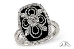 Gorgeous quatrefoil design by Allison-Kaufman for Christopher's Fine Jewelry