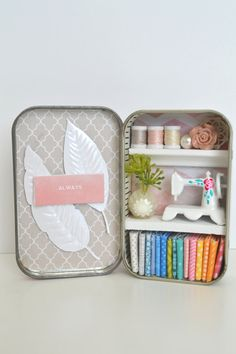 Tiny Tin Sewing Room  Always Loving You by TeaRoseCompany on Etsy