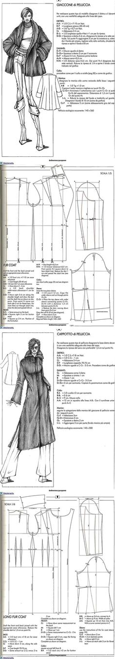 Fur Jacket Design... ♥ Deniz ♥ Padron, Hobbies And Crafts, Fur Jacket, Sewing Clothes, Refashion, Fabric Patterns, Dancing, Sewing Projects, My Love