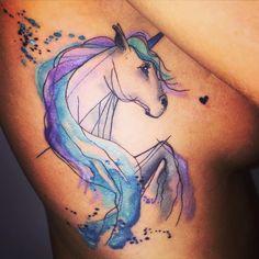 Pretty Watercolor Unicorn http://tattooideas247.com/unicorn-side/