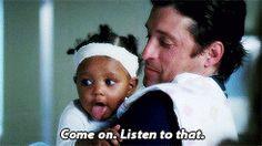 Grey's Anatomy season 7 Meredith Grey derek shepherd ellen pompeo Patrick Dempsey merder Zola