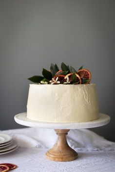 Blood orange chiffon cake.