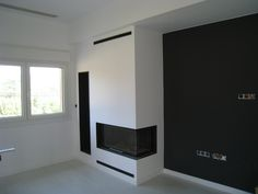 Living Room With Fireplace, Interior Design Living Room, Family Room, Master Bedroom, Fireplaces, Home Decor, Rustic Modern, Log Burner, Modern Fireplaces