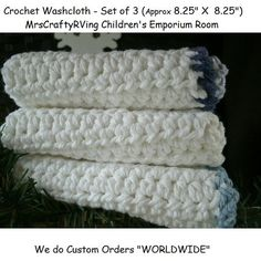 Crochet set of Washcloth by MrsCraftyRVing on Etsy, $8.00 #Handmade