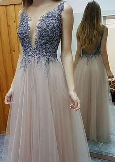Charming Prom Dress,Tulle Prom Dress ,V-Neck Prom Dress,Beading Prom Dress ,Sexy dress