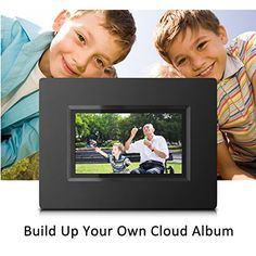sungale cpf716 7 smart wi fi cloud digital photo frame with touch screen operation