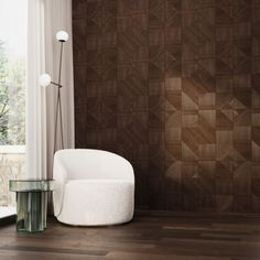 Bespoke dark brown wooden flooring and matching wall covering for extreme elegance Entrance Hall, Wooden Flooring, Bespoke, Dark Brown, Living Room, Bedroom, Elegant, Wall, Wood Flooring